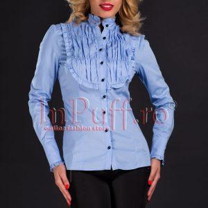 Camasa bumbac bleu cu pliuri - CAMASI -