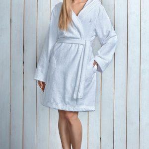 Capot dama Alba White cu fibre de bambus - Lenjerie pentru femei - Capoate