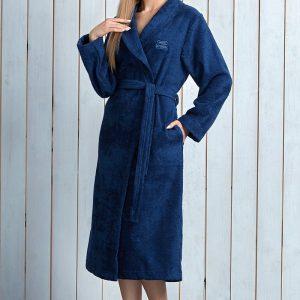 Capot dama Tracy Navy din fibre de bambus - Lenjerie pentru femei - Capoate