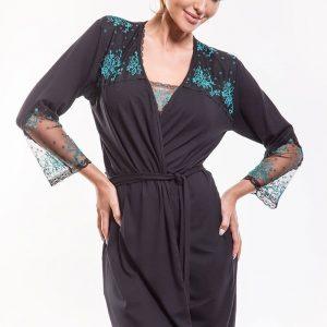 Capot elegant Leda Black - Lenjerie pentru femei - Capoate