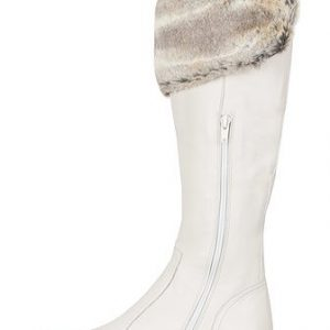 Cizme albe din piele naturala model DM1109 - Cizme -