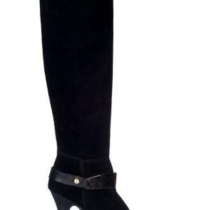 Cizme negre din piele naturala Negru - Incaltaminte - Incaltaminte / Botine