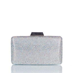 Clutch cristale de sticla Argintiu - Genti - Genti / Clutch-uri