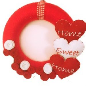 Coroniță roșie Home Sweet Home - Produse > Cadouri WoW > Cadouri pentru maternitate/botez -