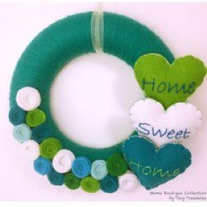 Coroniță turquoise Home Sweet Home - Produse > Cadouri WoW > Cadouri pentru maternitate/botez -