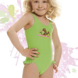 Costum de baie fetite Smiling verde - Promotii - Promotiile saptamanii