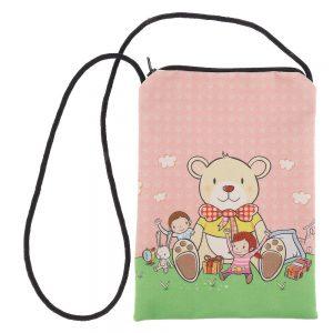 Geanta copii Teddy roz cu verde - Aксесоари - Aксесоари Детски