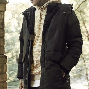 Geci de iarna cu gluga Heavy negru Urban Classics - Geci de iarna - Urban Classics>Barbati>Geci de iarna