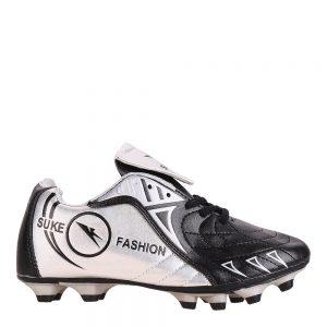 Ghete fotbal copii Isaac negre cu argintiu - Incaltaminte Copii - Pantofi Sport Copii