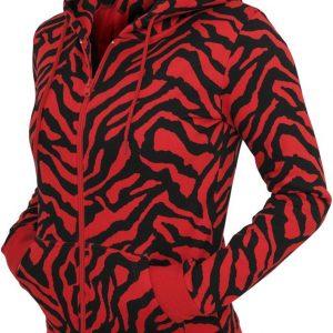 Hanorace dama cu model zebra cu fermoar - Hanorace cu fermoar - Urban Classics>Femei>Hanorace cu fermoar