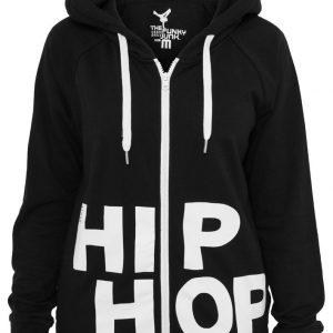 Hanorace hip hop femei cu femoar negru-alb Urban Dance - Urban Dance - Urban Dance