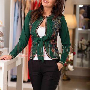 Jacheta eleganta cu fir lame si imprimeu floral - SACOURI -