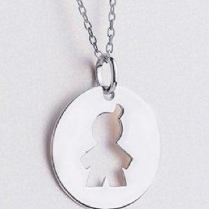 Lanț cu medalion băiat argint - Produse > Cadouri WoW > Bijuterii WoW -
