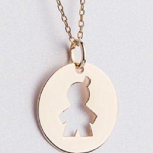 Lanț cu medalion băiat aur - Produse > Cadouri WoW > Bijuterii WoW -