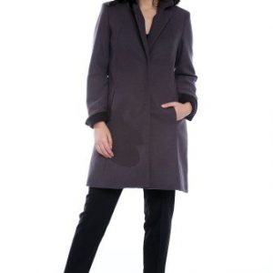 Palton matlasat din lana cu buzunare AM-90702 gri - Outlet -