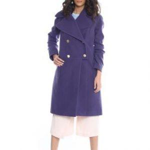 Palton mov din lana AM-20706 - Outlet -