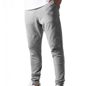 Pantaloni conici cu cusaturi in zona genunchilor gri Urban Classics - Pantaloni trening - Urban Classics>Barbati>Pantaloni trening