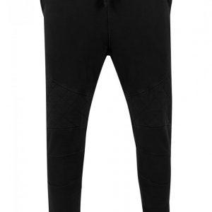 Pantaloni conici cu cusaturi in zona genunchilor negru Urban Classics - Pantaloni trening - Urban Classics>Barbati>Pantaloni trening