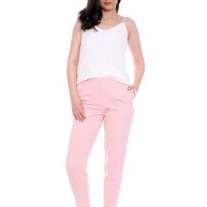 Pantaloni conici roz din stofa AM-60417 - Outlet -