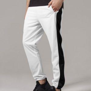Pantaloni de trening alb-negru Urban Classics - Pantaloni trening - Urban Classics>Barbati>Pantaloni trening