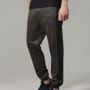 Pantaloni de trening oliv inchis-negru Urban Classics - Pantaloni trening - Urban Classics>Barbati>Pantaloni trening