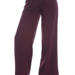 Pantaloni grena din stofa evazati AM-10429 - Outlet -