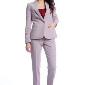 Pantaloni office cu buzunare laterale AM-21611406 lila - Outlet -