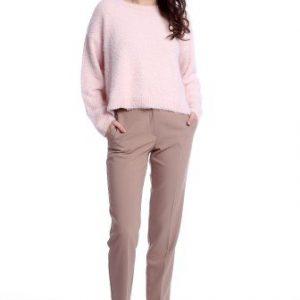 Pantaloni office cu buzunare laterale AM-21611409 bej - Outlet -