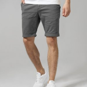 Pantaloni scurti chino stretch gri inchis Urban Classics - Pantaloni cargo - Urban Classics>Barbati>Pantaloni cargo