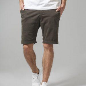 Pantaloni scurti chino stretch oliv inchis Urban Classics - Pantaloni cargo - Urban Classics>Barbati>Pantaloni cargo