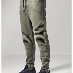 Pantaloni sport Pleat oliv Urban Classics - Pantaloni trening - Urban Classics>Barbati>Pantaloni trening