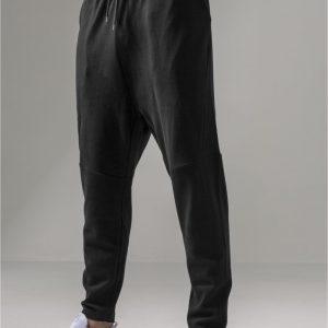 Pantaloni sport conici Interlock negru Urban Classics - Pantaloni trening - Urban Classics>Barbati>Pantaloni trening