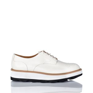 Pantofi Brogues din piele naturala Alb - Incaltaminte - Incaltaminte / Pantofi fara toc
