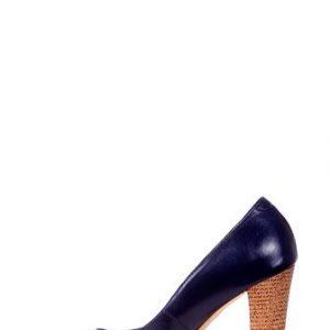 Pantofi Clarette albastri cu toc inalt din piele naturala model 278-AB - Outlet -