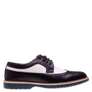 Pantofi barbati Bruno albastru cu alb - Incaltaminte Barbati - Pantofi Barbati