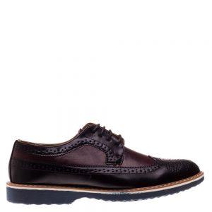 Pantofi barbati Bruno negru cu rosu - Incaltaminte Barbati - Pantofi Barbati
