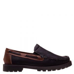 Pantofi barbati Gill negru cu maro - Incaltaminte Barbati - Pantofi Barbati