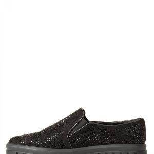 Pantofi casual negri cu strasuri Negru - Incaltaminte - Incaltaminte / Pantofi sport