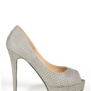 Pantofi cu platforma din piele Gri - Incaltaminte - Incaltaminte / Pantofi cu toc