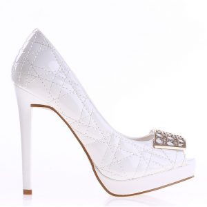 Pantofi dama Dawn albi - Incaltaminte Dama - Pantofi Dama