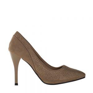 Pantofi dama Janette khaki - Incaltaminte Dama - Pantofi Dama