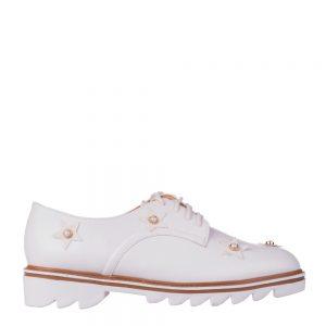 Pantofi dama Nunila albi - Incaltaminte Dama - Pantofi Dama