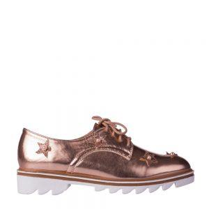 Pantofi dama Nunila bej sampanie - Incaltaminte Dama - Pantofi Dama