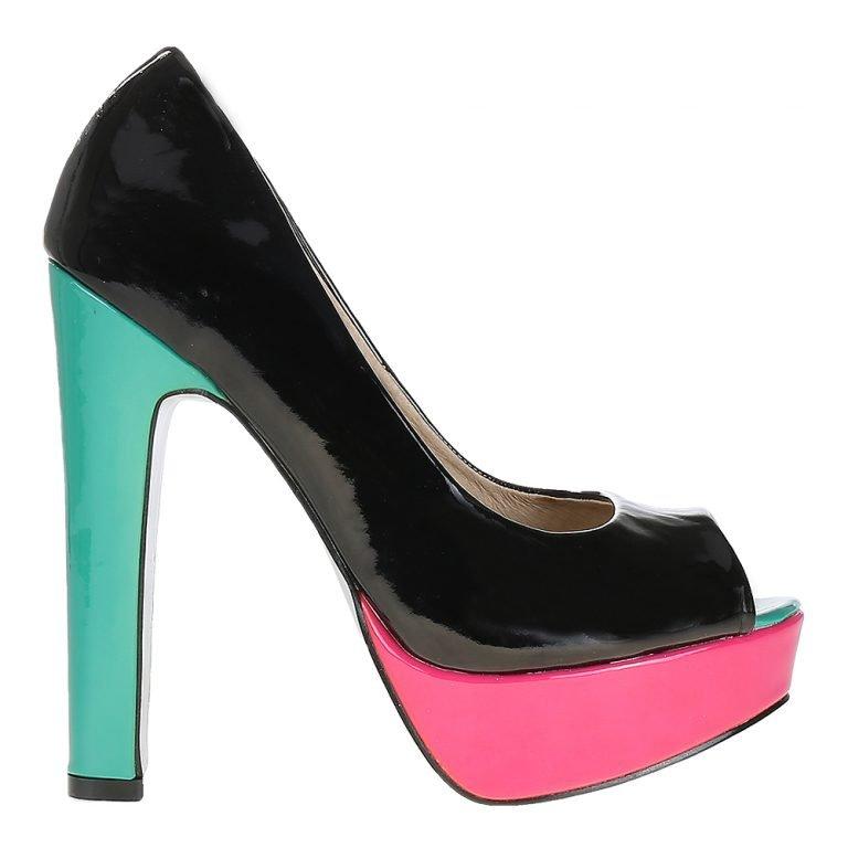 Pantofi dama negri piele eco – Promotii – Lichidare Stoc
