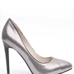 Pantofi din textil metalizat Gri - Incaltaminte - Incaltaminte / Pantofi cu toc