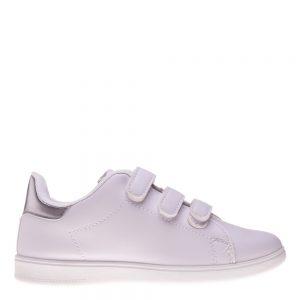 Pantofi sport copii Matei alb argintiu cu scai - Incaltaminte Copii - Pantofi Sport Copii