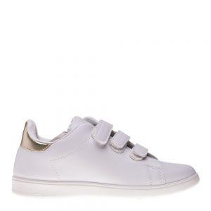 Pantofi sport copii Matei alb auriu cu scai - Incaltaminte Copii - Pantofi Sport Copii