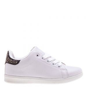 Pantofi sport copii Nicole albi cu negru - Incaltaminte Copii - Pantofi Sport Copii