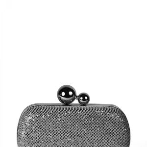 Plic in nuante metalice Negru - Accesorii - Accesorii / Bratari