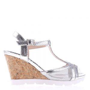 Sandale dama cu platforma Amirah argintii - Sandale cu Platforma - Sandale cu Platforma